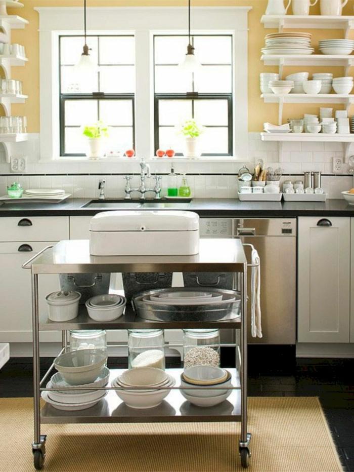 cocinas pequeñas y practicas en bonitas fotos, ideas de organización de espacios pequeños