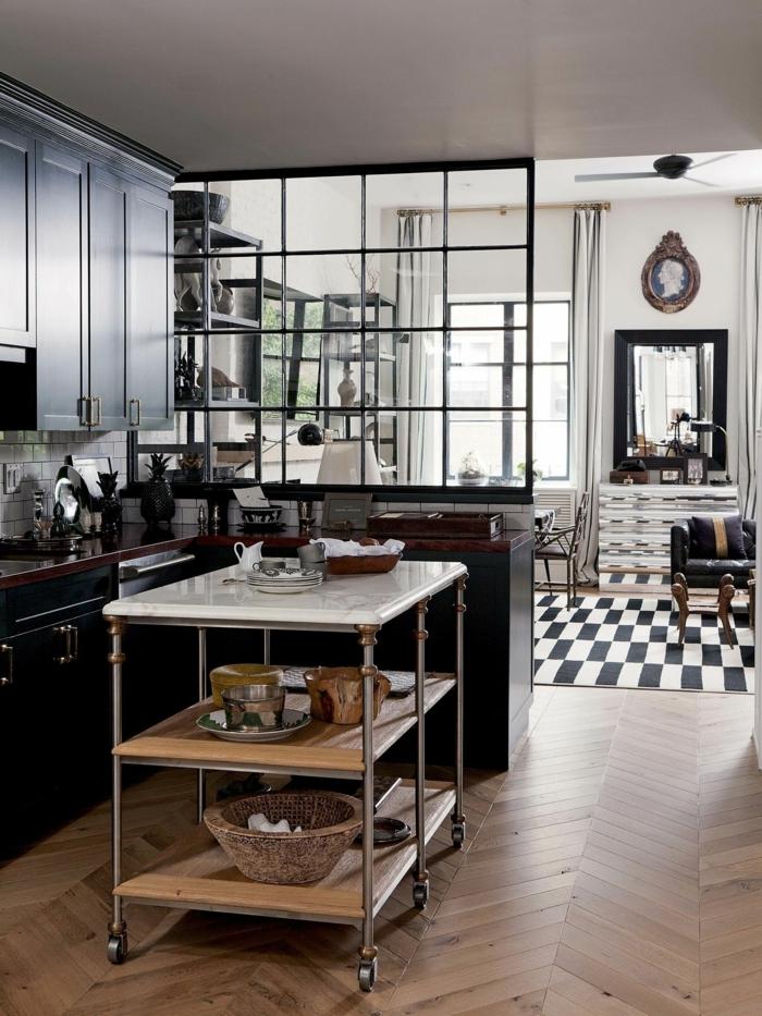 decoración de cocinas pequeñas en colores oscuros, ideas de decoración de cocinas pequeñas y practicas