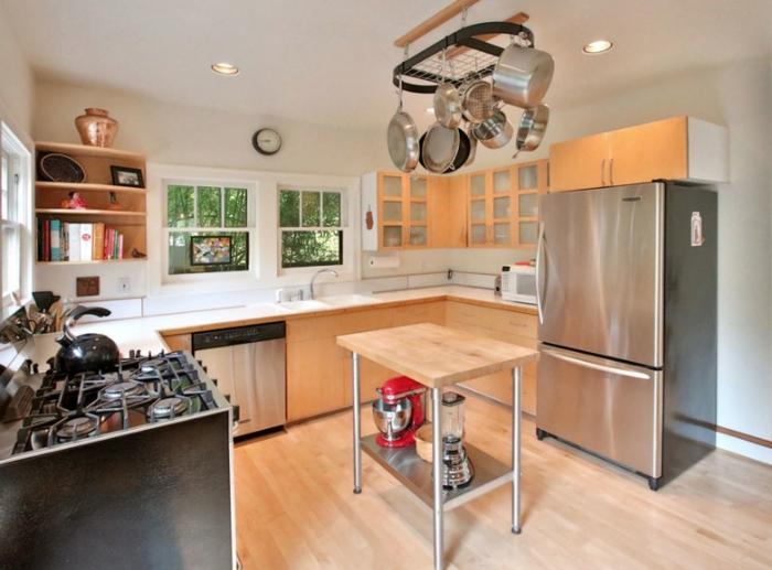 cocinas pequeñas y practicas con isla, decoración de espacios en estilo industrial, cocina con isla