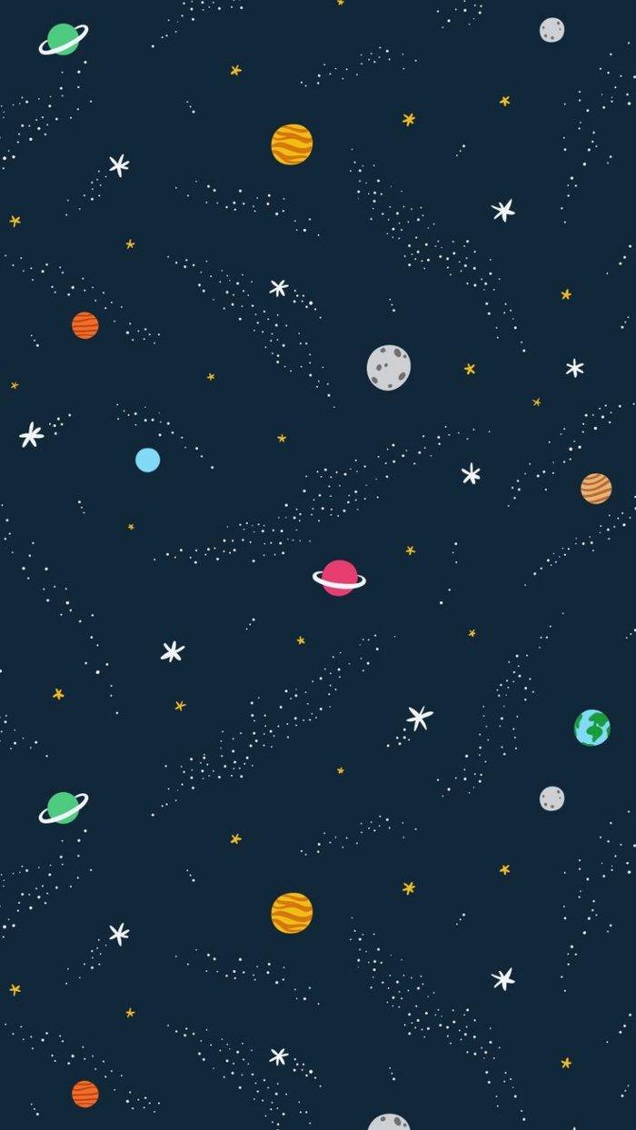 fondo para tu teléfono con estrellas, cometas y constelaciones, fondos de iphone para escoger