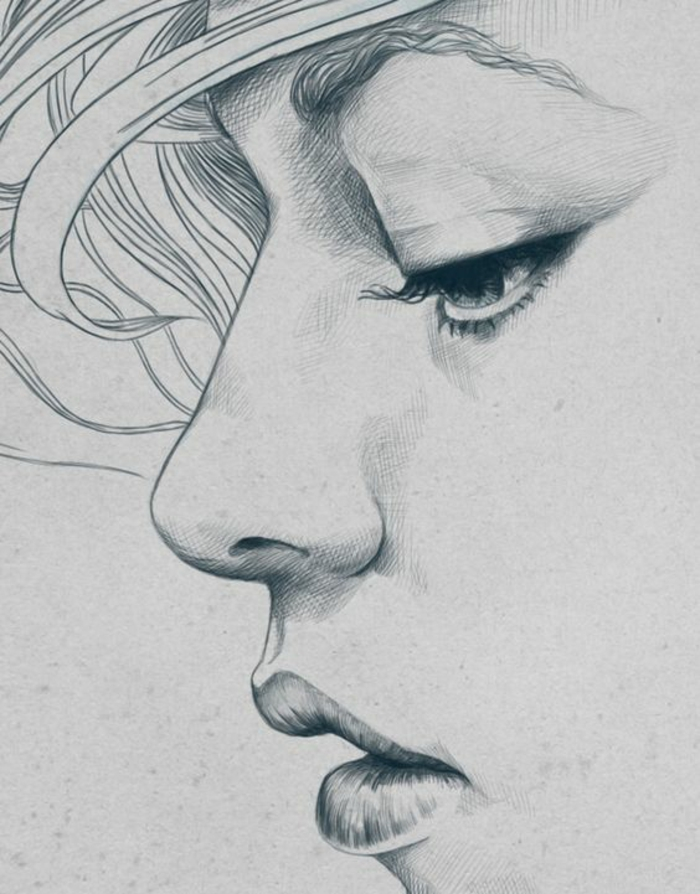 alucinantes ideas de retratos de caras de mujer, como dibujar una niña paso a paso en bonitas imagines