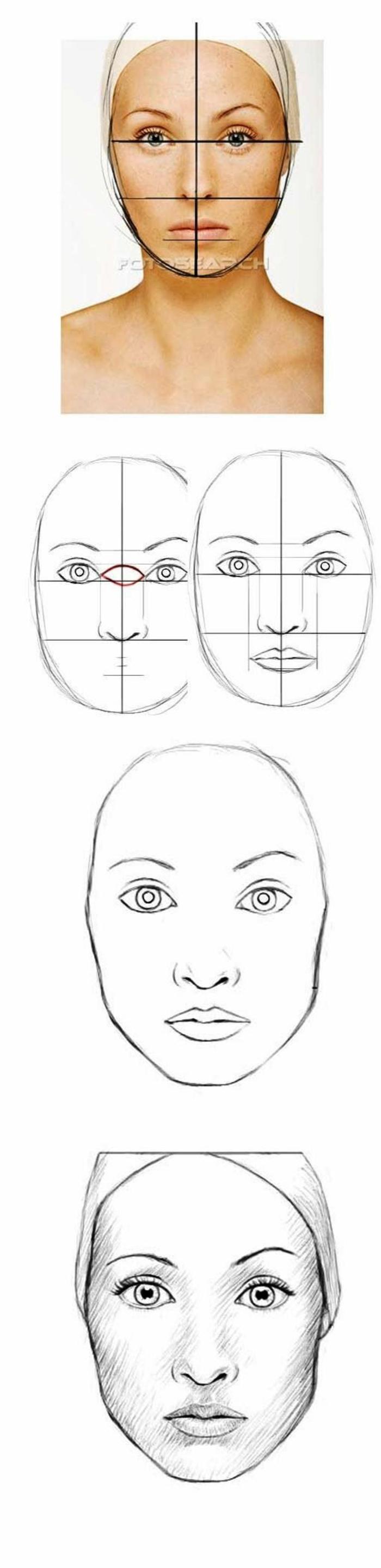 ideas sobre cómo dibujar una cara de mujer paso a paso, como dibujar una persona para principiantes