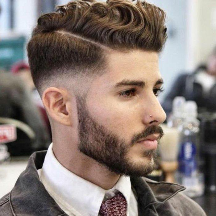 maravillosas propuestas de cortes de pelo hombre 2017, pelo degradado peinado halcón