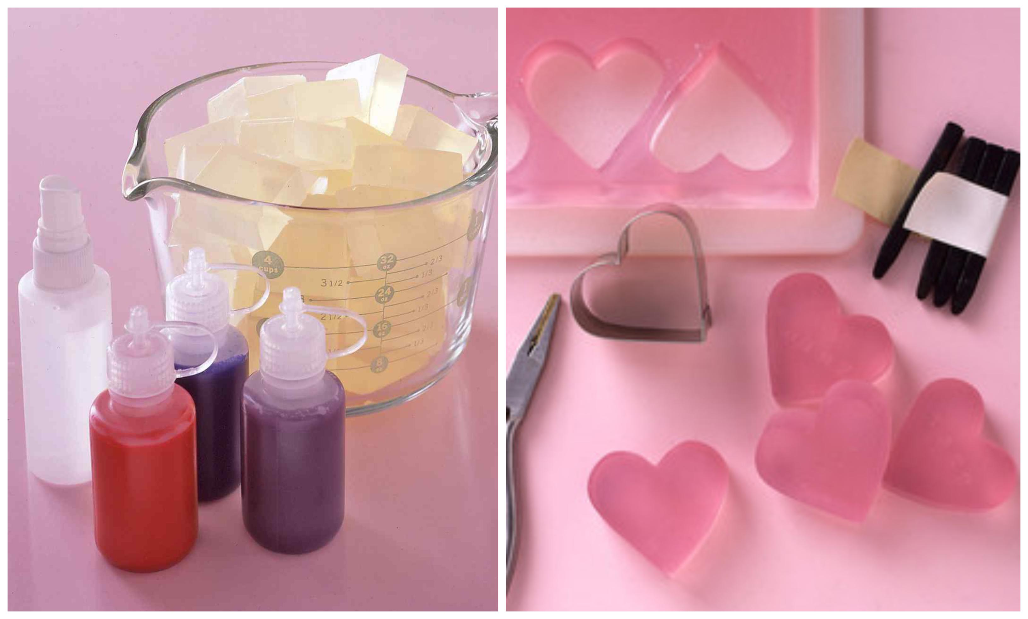 cómo hacer jabones caseros para regalar en el dia de los enamorados, ejemplos originales de regalos san valentin hechos a mano