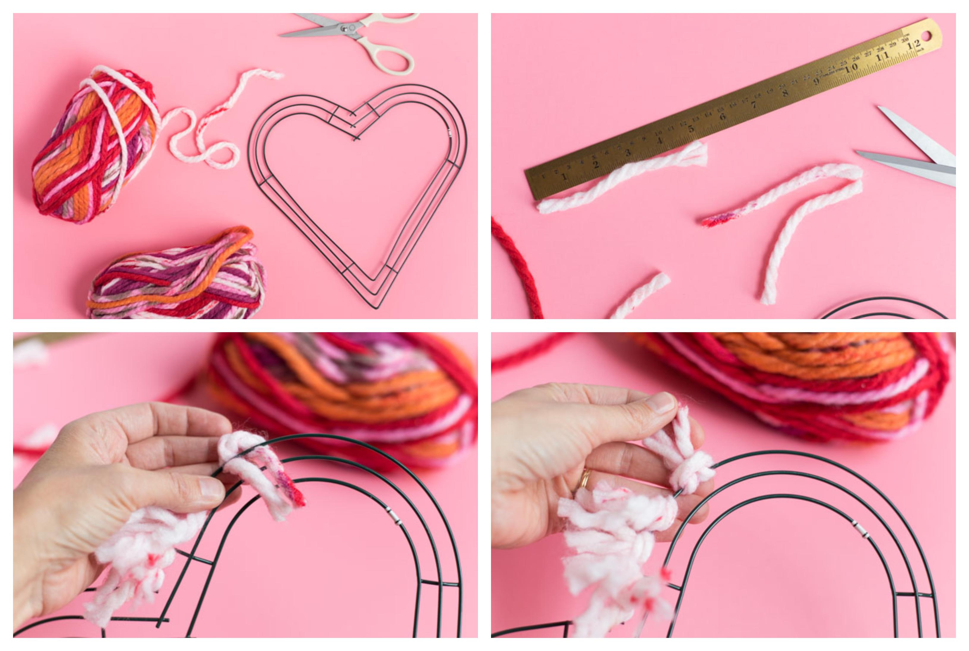 cómo hacer una corona DIY en forma de corazón paso a paso, ideas de manualidades para regalar a mi novio