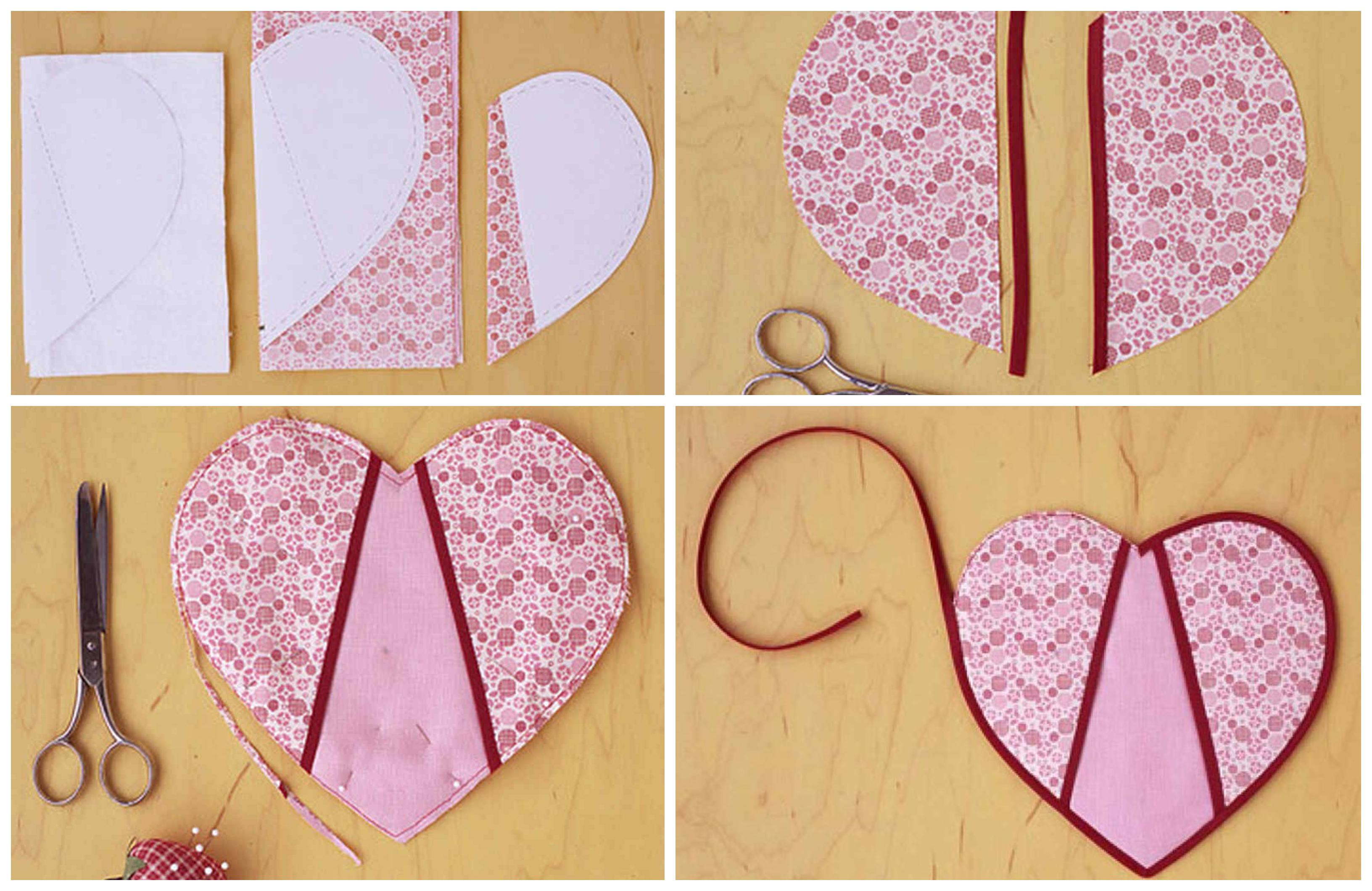 cómo hacer un corazón de tela paso a paso, galería de imagines con regalos san valentin manualidades