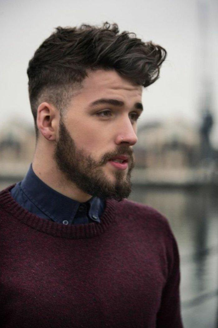 cortes de pelo en estilo hipster, fotos con ejemplos de cortes de pelo hombre 2017, larga barba y bigotes