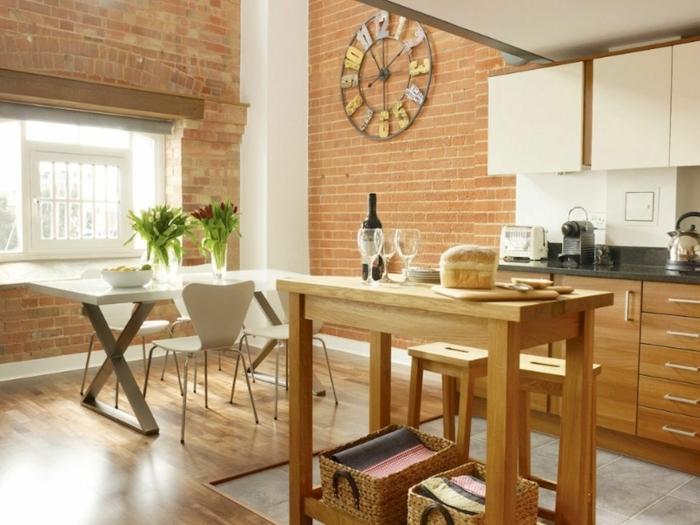 diseño de cocinas pequeñas decoradas en estilo rústico moderno, cocinas pequeñas para apartamentos