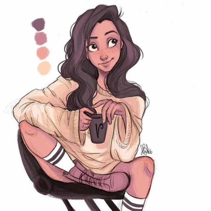 divertidas propuestas de dibujos de niñas para colorear, dibujos originales y simpáticos