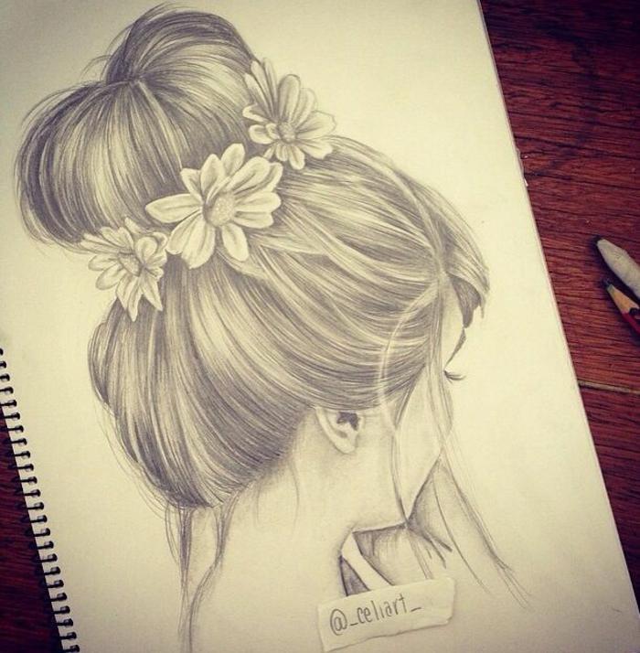 dibujos a lápiz fáciles y bonitos, dibujos de niñas para colorear que puedes descargar gratis
