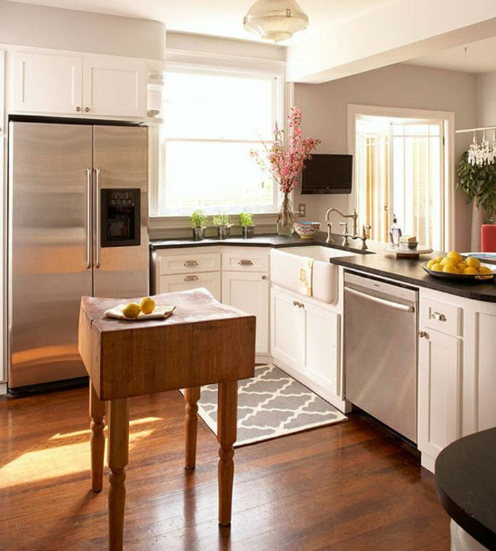pequeñas cocinas con islas, ideas para espacios pequeños, diseños de cocinas prácticas y modernas