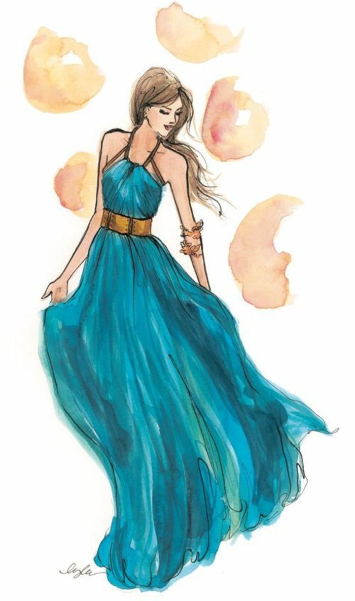hermosos dibujos con pintura acuarela, dibujos de niñas para colorear, más de 110 propuestas