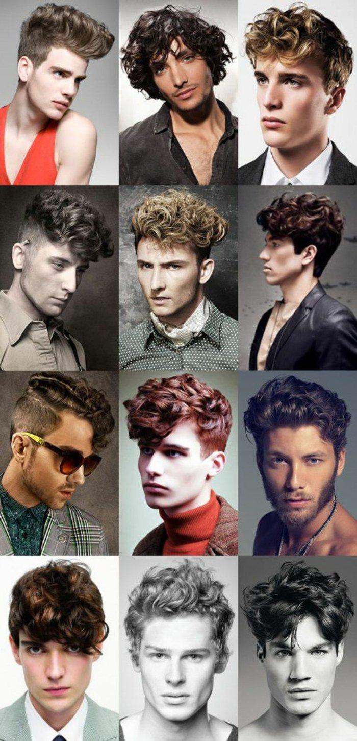 12 variantes de cortes de pelo rizado para hombre, propuestas para pelo rizado largo y corto