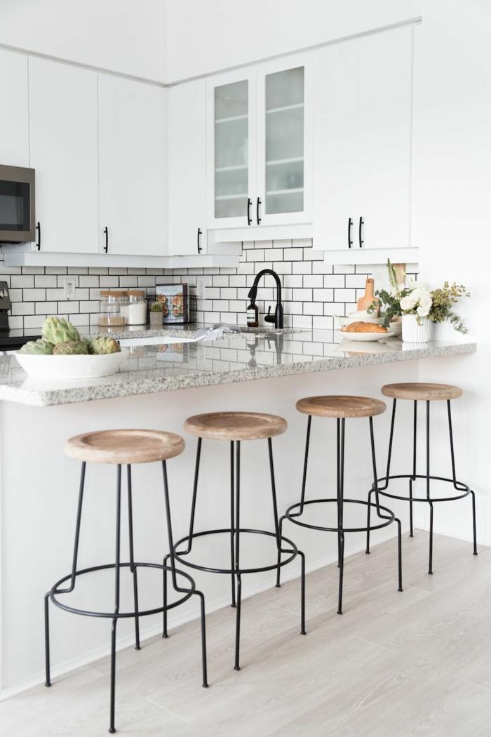 ideas de cocinas americanas en l decoradas en blanco, trucos para decorar cocinas pequeñas alargadas