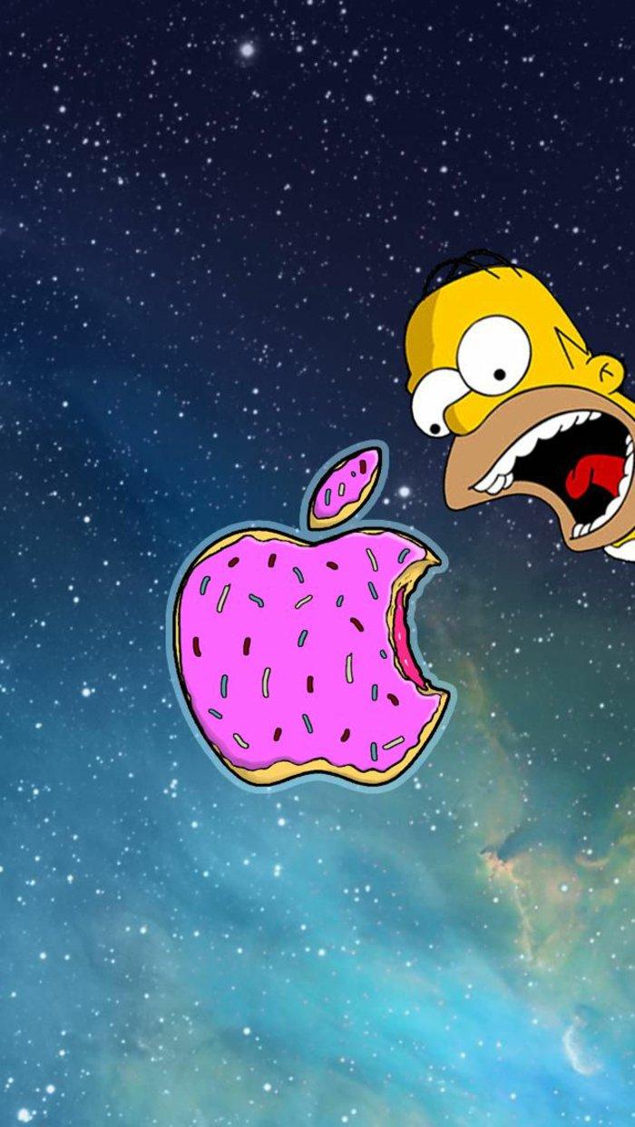 la manzana de Apple, divertida foto para tu teléfono, fondos de iphone originales y atractivos