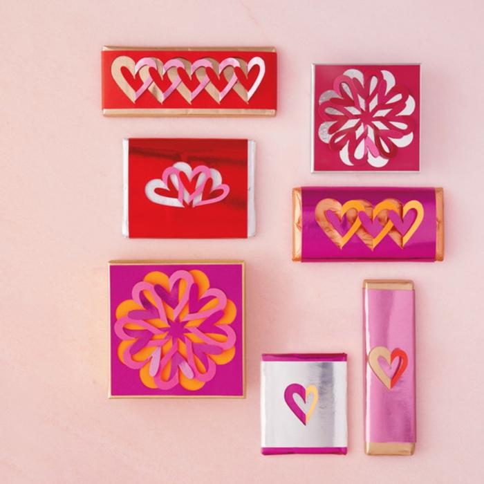 bonitos embalajes San valentín hechos a mano, originales propuestas de manualidades san valentin