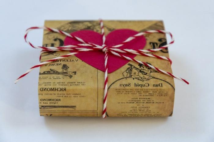 ideas de sorpresas san valentin, embalaje DIY para regalos para el 14 de febrero, embalaje original