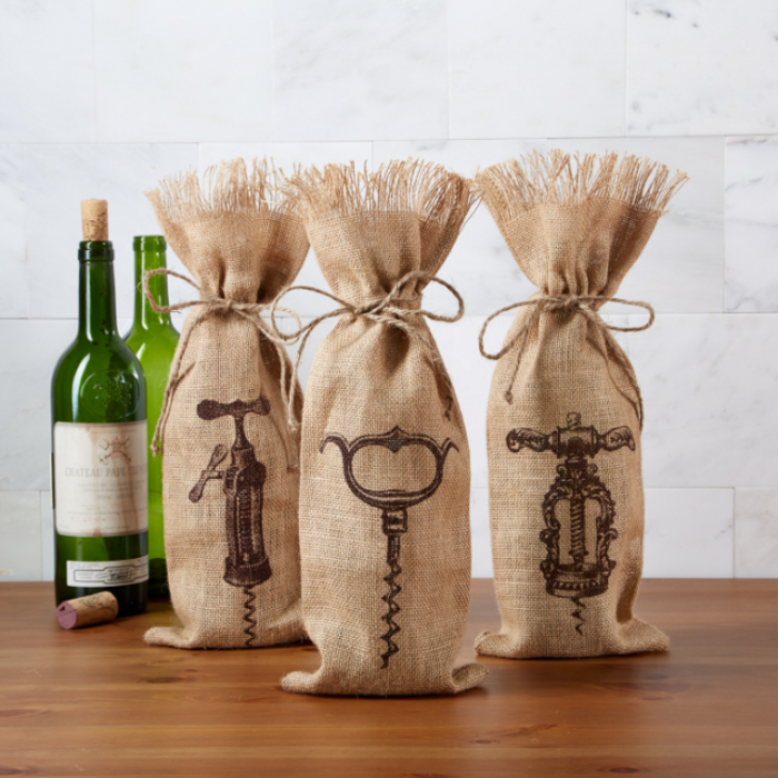 vinos personalizados para regalar a tus amigos y familiares, bolsas de tela para vinos para regalar