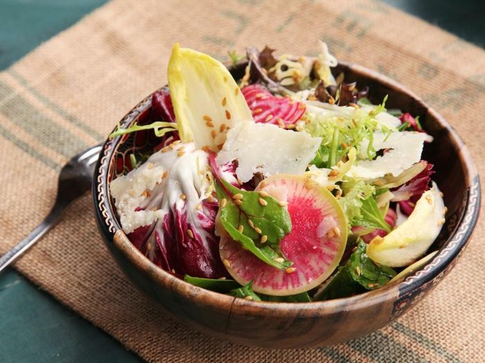ricas ensaladas llenas de vitaminas, como preparar una cena romantica paso a paso, ensalada con higos y sesamo