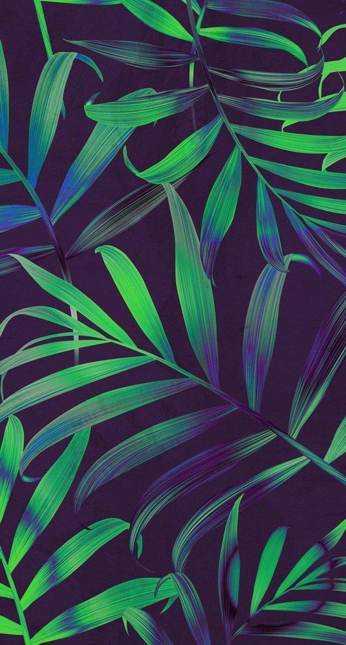 fondos apple con plantas verdes y motivos botánicos, preciosas propuestas de imagines en colores