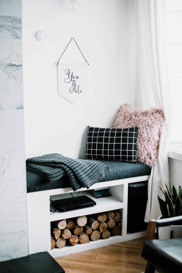 adorables propuestas de sorpresas san valentin, habitación decorada con mucho estilo en blanco y negro