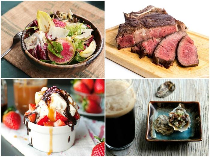 propuestas de menú festivo para recetas de cenas faciles, ensaladas sanas, carne de vaca cocida, postres
