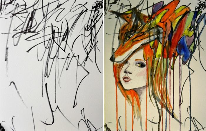 originales propuestas de dibujos de mujeres y niñas, ideas sobre como dibujar una persona facil