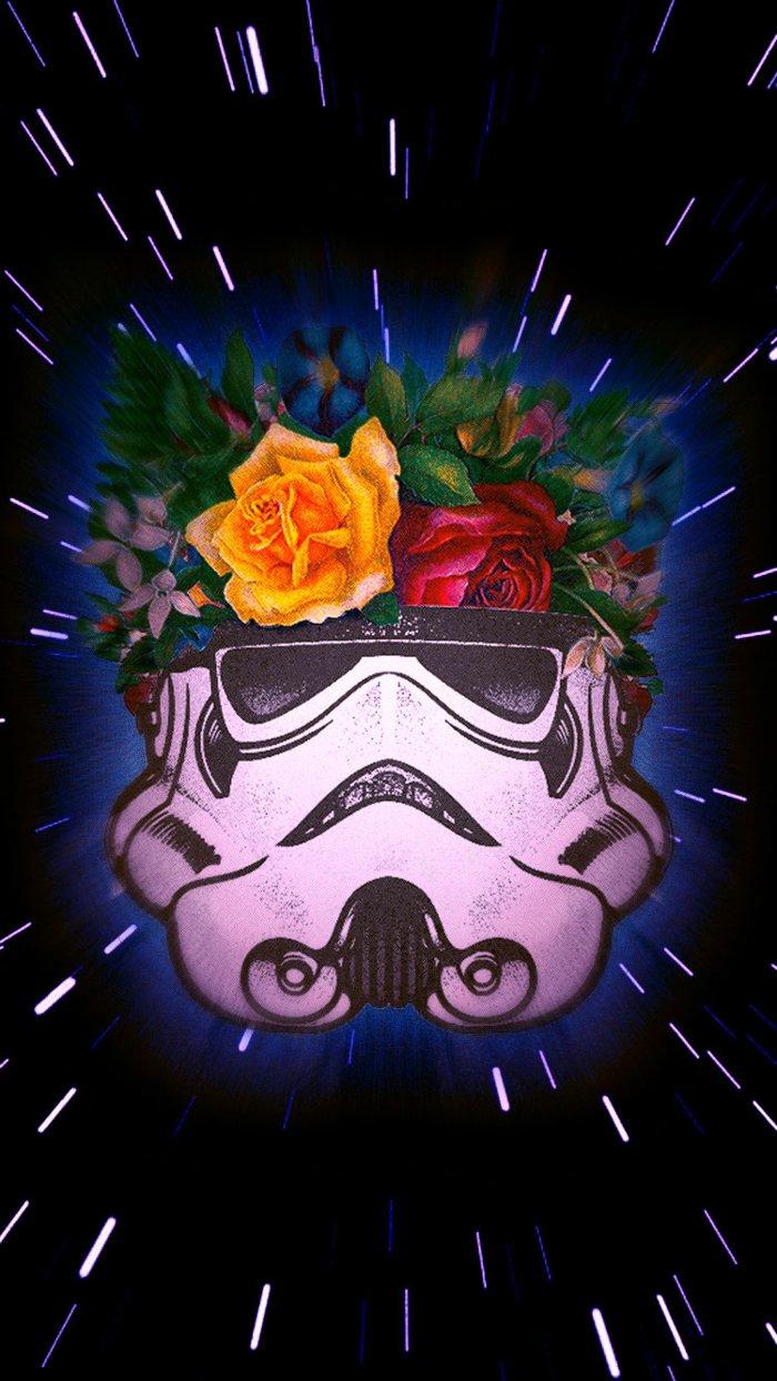 fondos de pantalla apple inspiradoras, imagines con héroes de películas, ideas para los fans de Star Wars