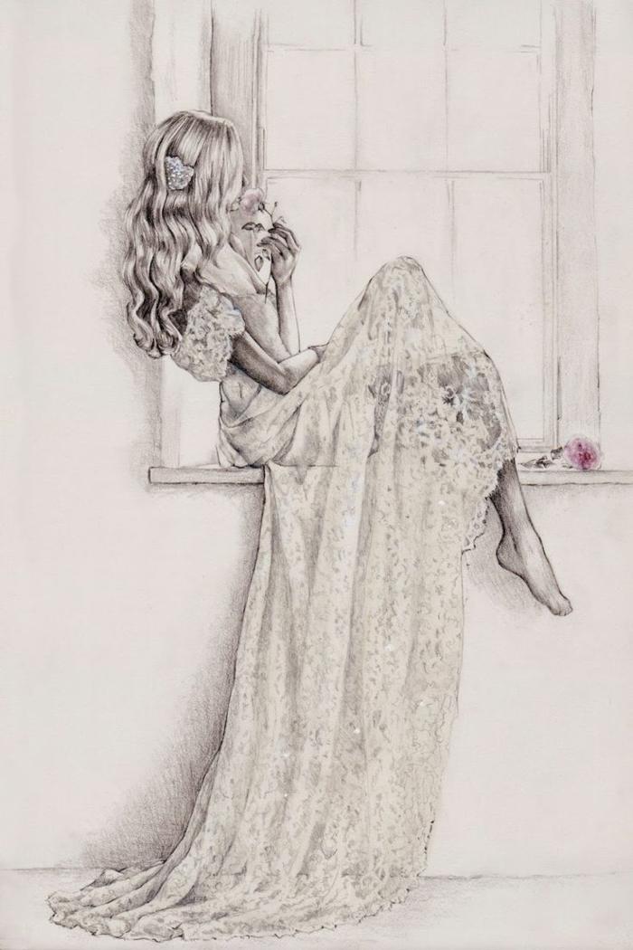hermosos dibujos de niñas y mujeres, descargables dibujos de niñas para colorear que enamoran