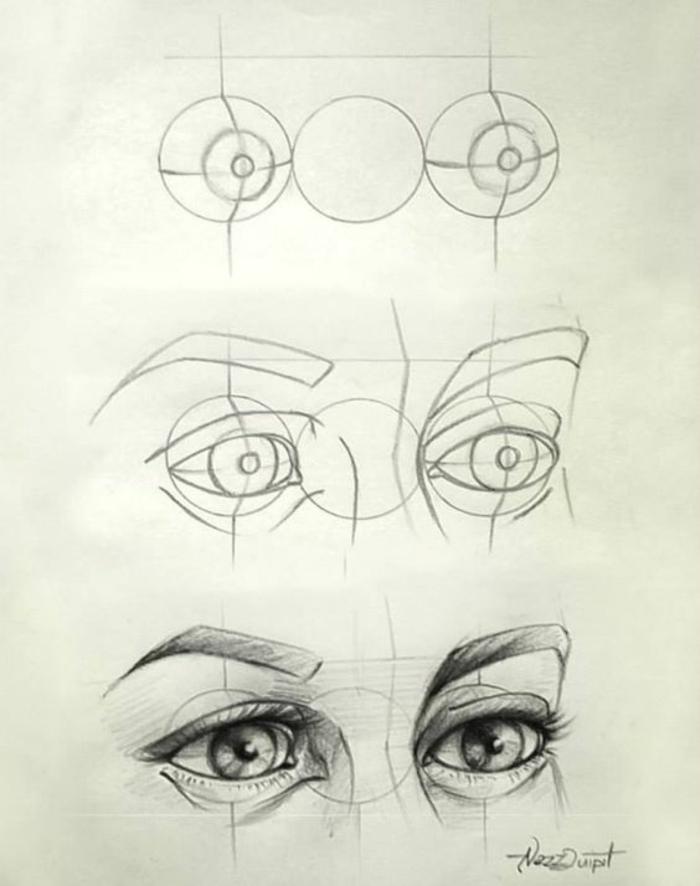 ideas fáciles y prácticas sobre cómo dibujar una mirada, consejos bonitos para principiantes
