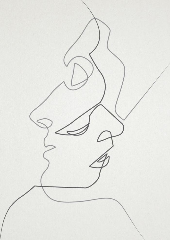 dibujos y pinturas surrealistas, hombre y mujer besándose, dibujos de niñas para colorear