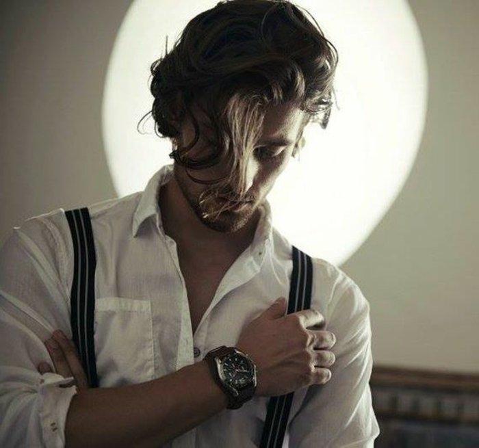 pelados modernos hombre pelo largo rizado, peinados hombre 2017 modernos y bonitos