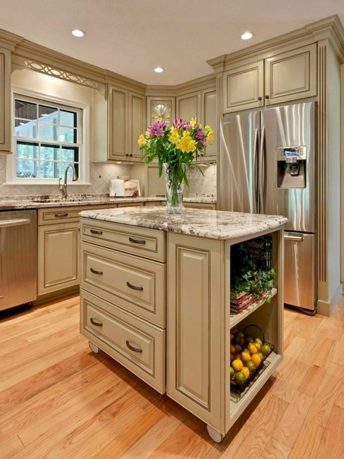 1001 ideas de decoraci n de cocinas peque as con isla for Cocinas pequenas decoradas modernas