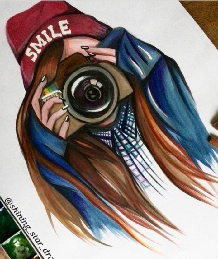 dibujo-niña-original-inspirado-en-las-redes-sociales-galeria-de-imagines-con-dibujos