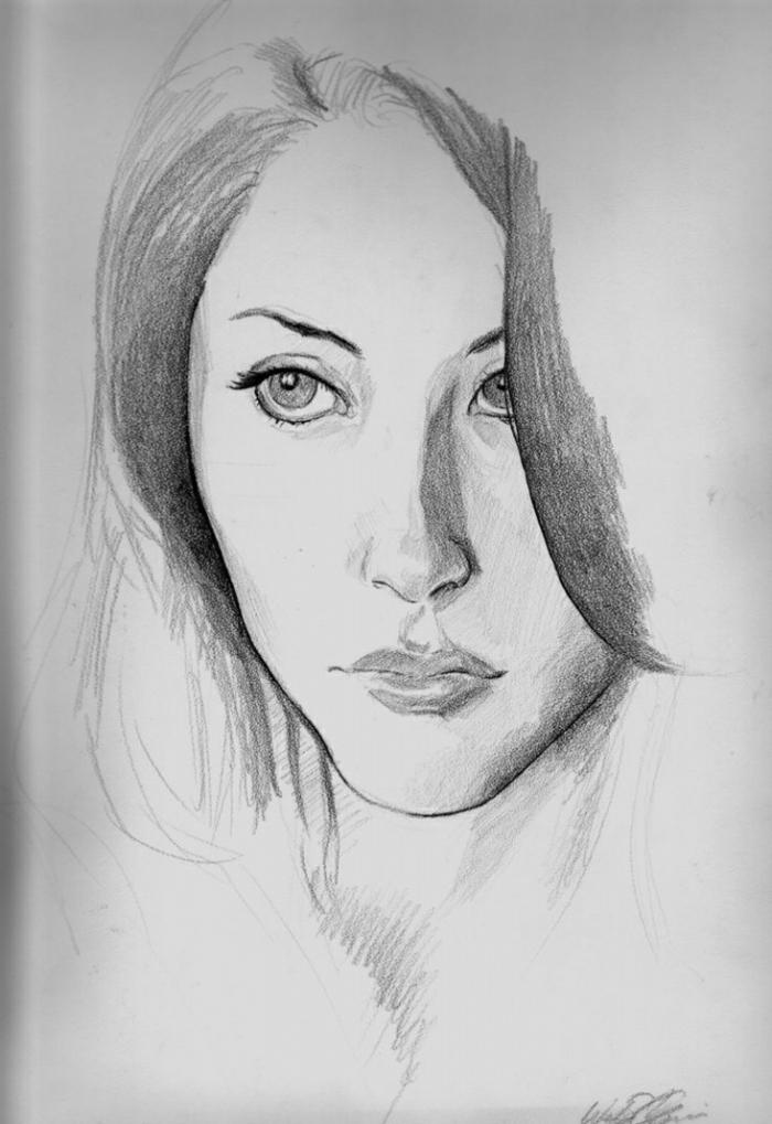 retratos de mujeres fáciles de hacer y bonitos, ideas sobre cómo dibujar la cara de una persona