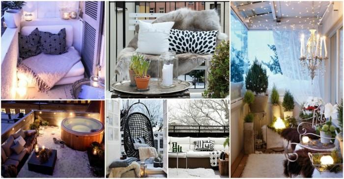 propuestas de balcones pequeños decorados según las últimas tendencias, decorar una terraza en estilo escandinavo