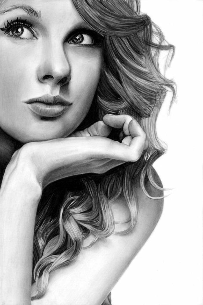 retratos realistas de celebridades, cómo dibujar la cara de una mujer, consejos prácticos y dibujos