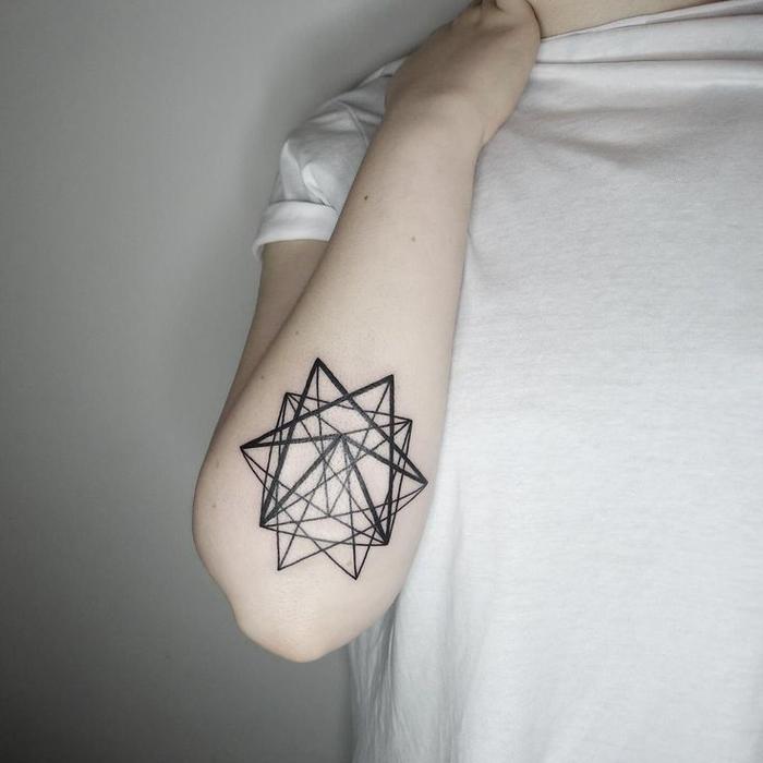 diseños de tatuajes geometricos originales para hombres y mujeres en 60 imagines, tatuaje antebrazo hombre