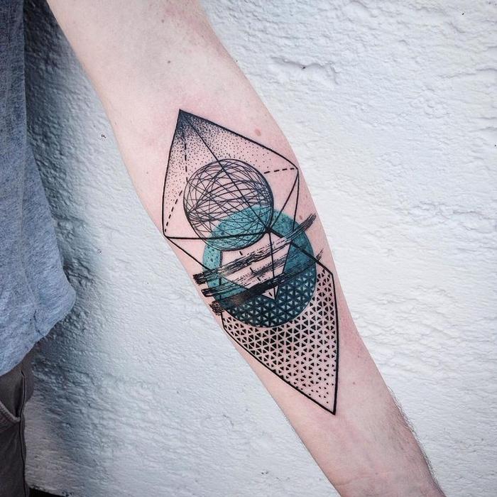 diseños de tatuajes super originales con figuras geometricas, más de 60 imagines de tatuajes geometricos