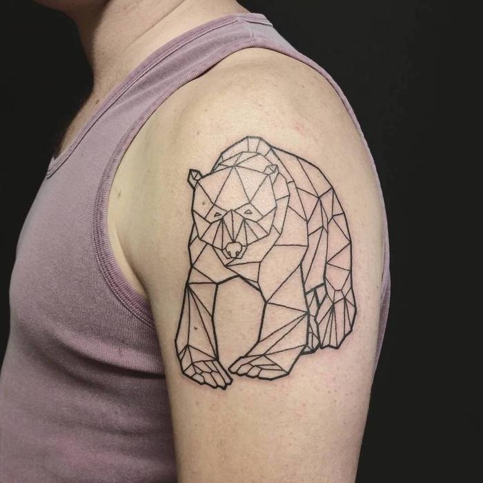 tatuajes geometricos con animales, 60 imagines super originales de tatuajes con figuras geométricas