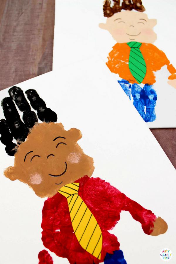 manualidades dia del padre para los más pequeños, bonitos y atractivos dibujos infantiles hechos con manos