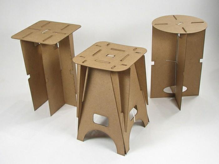 taburetes de cartón simpáticas paso a paso, las mejores ideas de muebles de carton en imagines