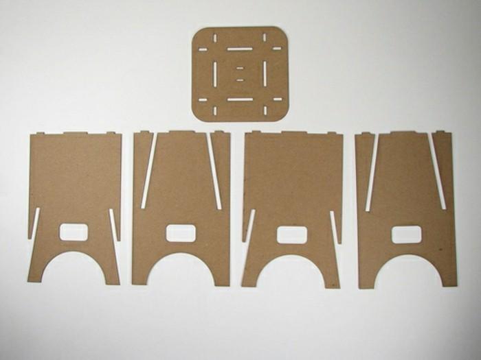 piezas de cartón para hacer una silla, muebles de carton originales en fotos, plantillas de cartón