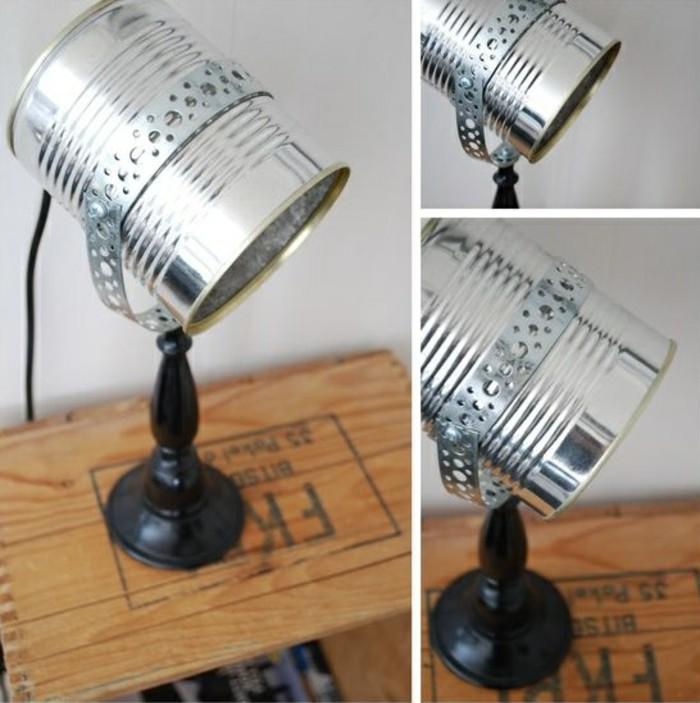 originales ideas de manualidades con latas, proyectos de bricolaje super originales, lámpara DIY hecha de lata