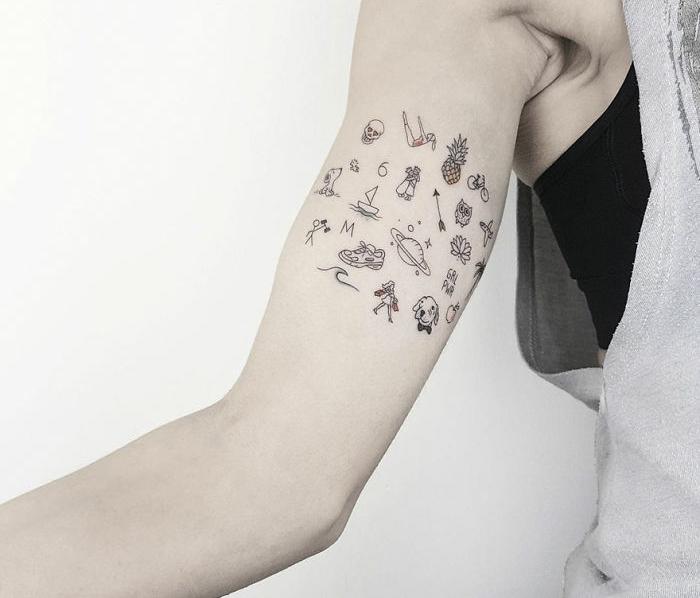 alucinantes ideas de tatuajes temporales, diseños bonitos, ejemplos de tatuajes con calcomanias