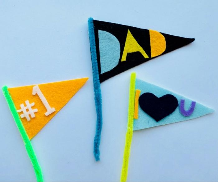 bonitas ideas de regalos para papa hechos de fieltro, detalles coloridos para regalar a tu padre