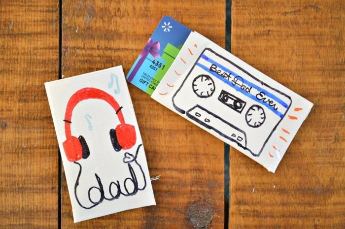 qué regalar a tu papá para el Día del padre, ideas para el dia del padre super originales, tarjetas con dibujos infantiles