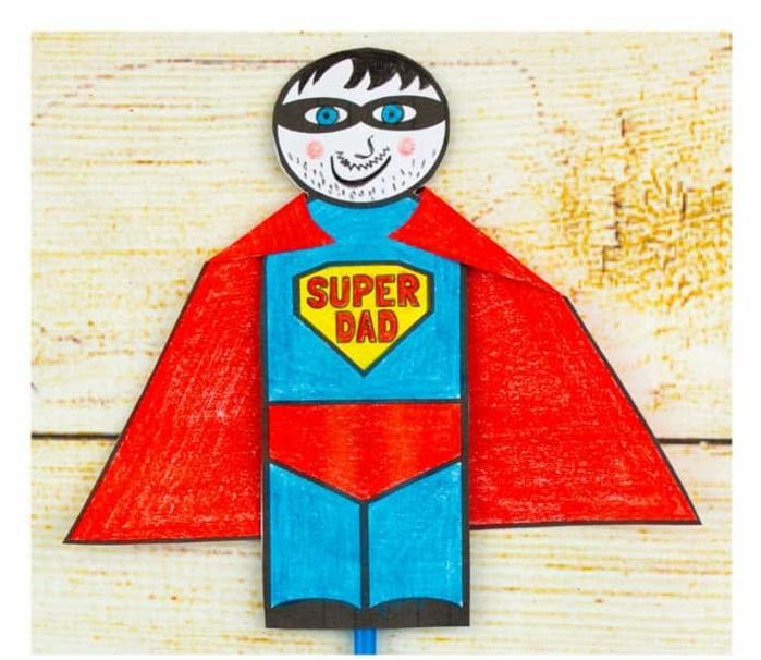 regalos caseros para dia del padre, ideas sobre tarjetas infantiles DIY para hacer para el Día del padre