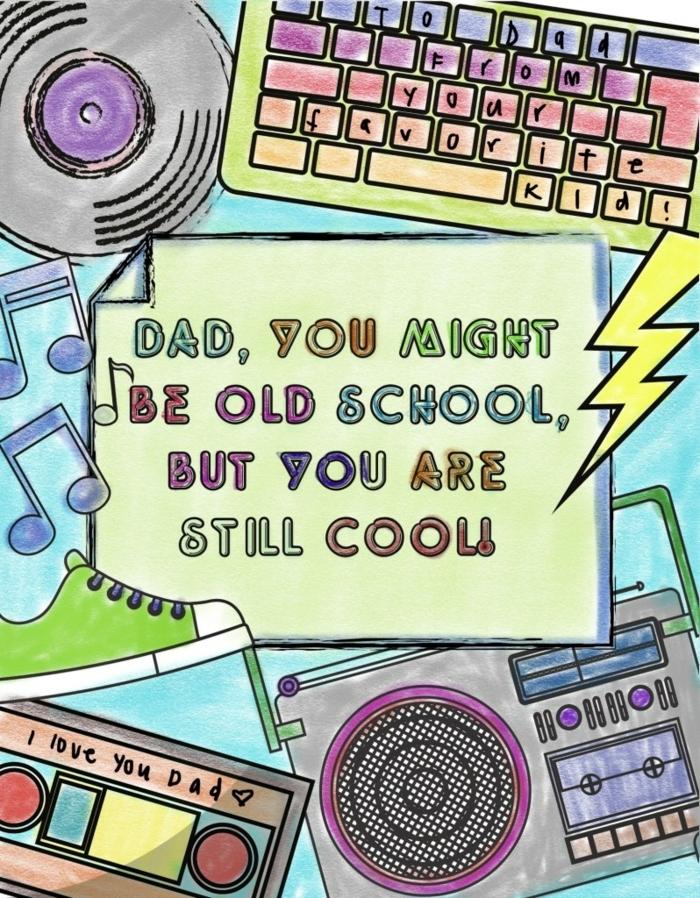 bonitas ideas de regalos caseros para el Día del padre, como hacer tarjetas Día del padre paso a paso