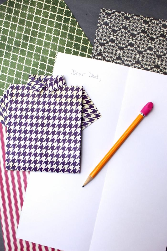 las mejores propuestas sobre tarjetas DIY para el Día del padre, tarjeta decorativa en forma de camisa